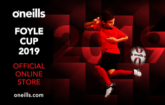 Visit O'Neills online Shop for your Foyle Cup merchandise